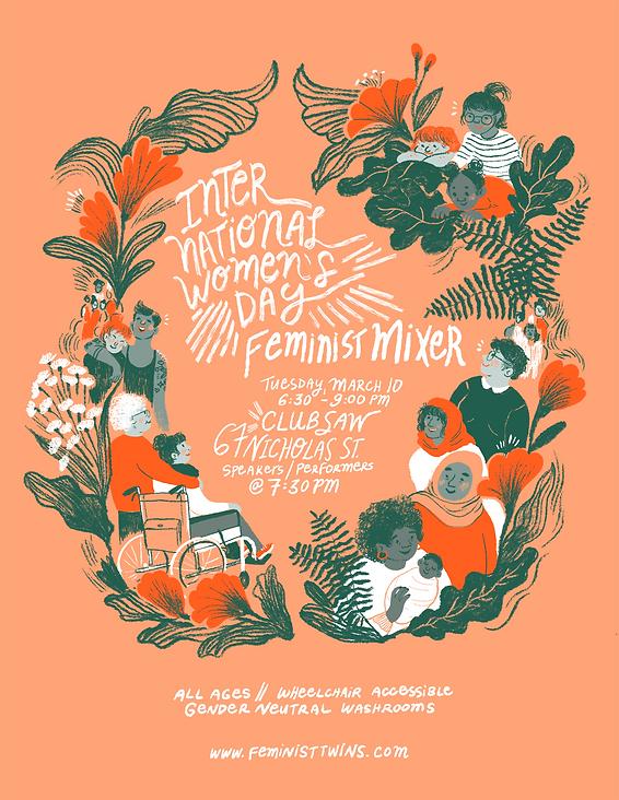FemTwins IWD Mixer 2020 Event Poster DIG