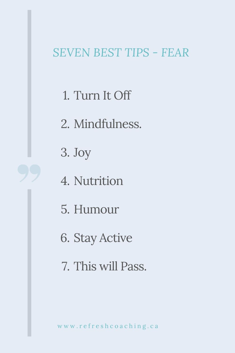 Seven best tip tips to manage fear and stay well