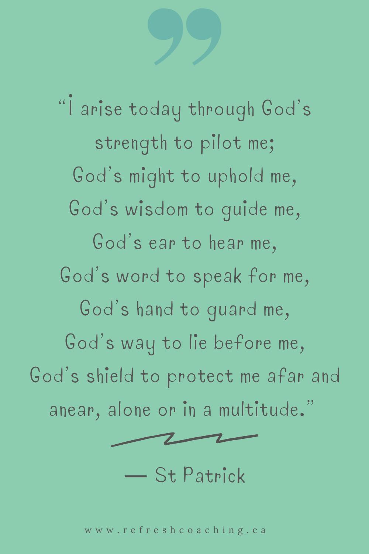 A St Patricks Day Prayer