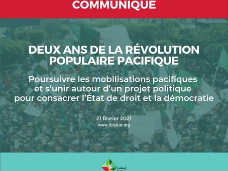 COMMUNIQUÉ DU 21 FÉVRIER 2021: Deux ans de la révolution populaire pacifique