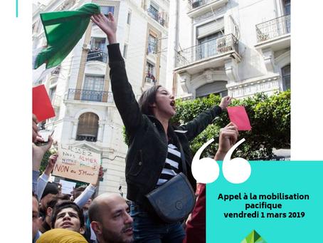 Appel à la mobilisation pacifique le vendredi 1 mars 2019