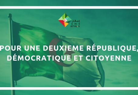 Pour une deuxième République, démocratique et citoyenne