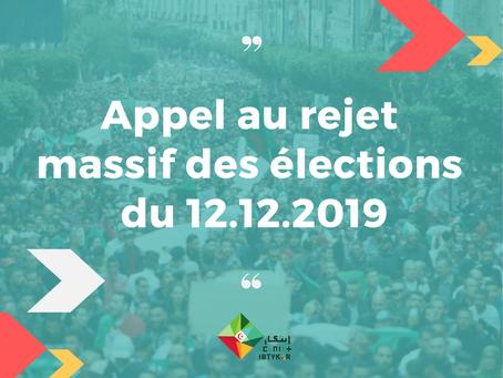 Appel au rejet massif des élections illégitimes du 12 décembre 2019