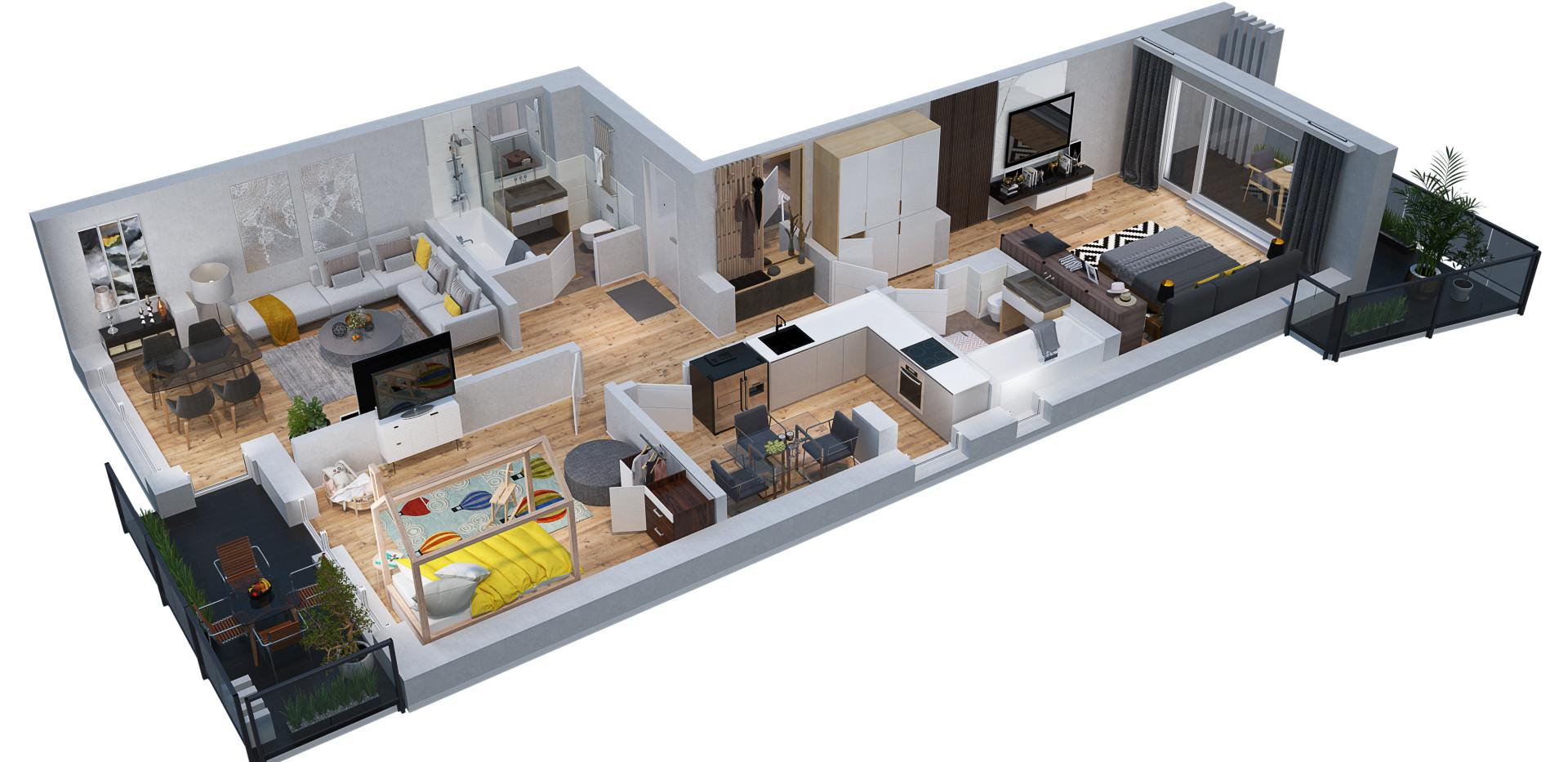 Plan Izometric 3D