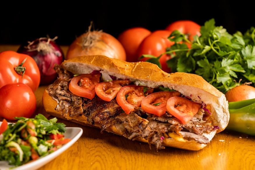 Fotografie Food Burger_fundal complex