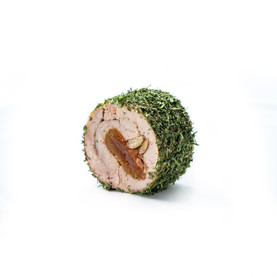 Rulou din porc cu migdale și caise în ierburi aromate.jpg
