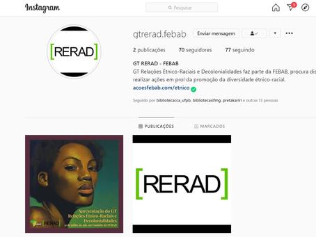 Acompanhe o GT RERAD nas redes sociais!