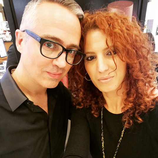 With Makeup artist Troy Surratt
