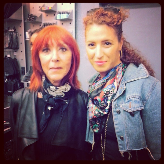 With artist and creator of MAKE UP FOR EVER Dany Sanz (NYC)