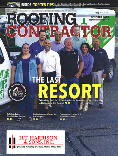 Roofing Contractor Magazine October Cover