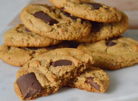 Chocolate Chunk Ginger Cookies (vegan, gluten free)