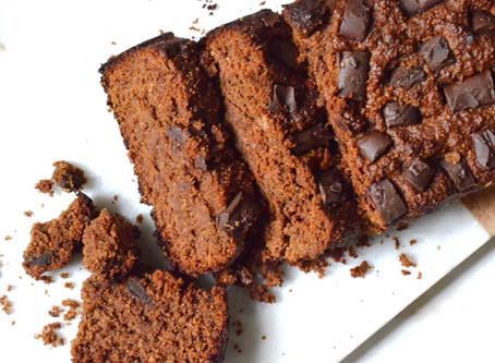 Chocolate Gingerbread Loaf (v, gf)
