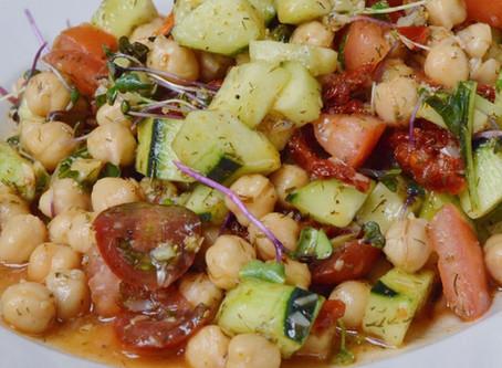 Mediterranean Chickpea Cucumber Salad