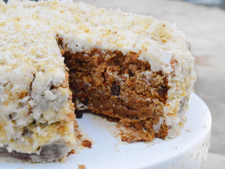 Carrot Cake with Cream Cheese Frosting (gf, df)