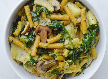 Lentil Pasta: Veggie-Loaded with Healthy Pesto