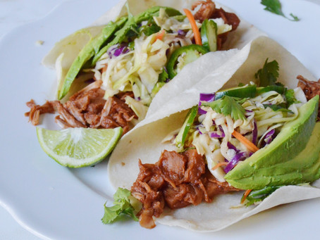 Barbecue Pulled Jackfruit Tacos with Vegan Coleslaw
