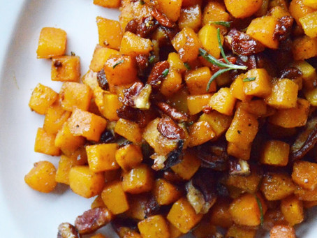Butternut Squash with Rosemary Maple Dressing