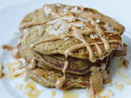 Matcha Banana Pancakes (gf, df)