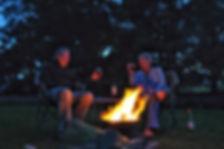 Evening campfire