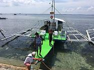HONUMI出張でセブ島へ。船貸し切り潜り漁するも靴下がw