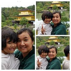 HONUMI沖縄、中村さん家族と金閣寺行きました。