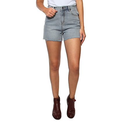 Rosie Womens High Rise Shorts - Faded Blue