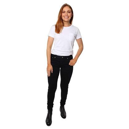 Sophie Mid Rise Skinny Leg Jeans - Black