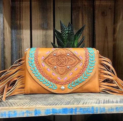 Coachella Festival Cross Body Bag/Clutch - Tan