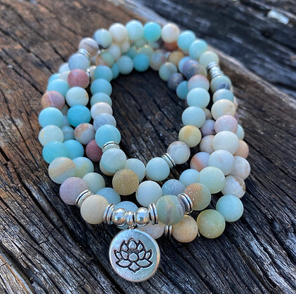 108 Prayer Bead Mala Jasper Wrap Bracelets
