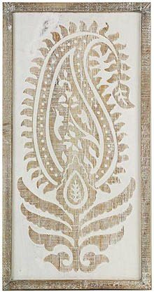 Paisley White Wall Hanging