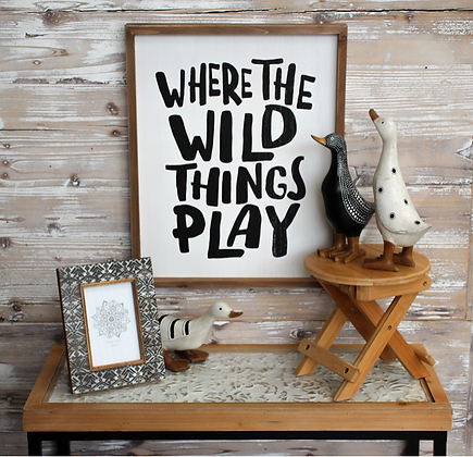 Where the Wild Things Play Wall Hanging