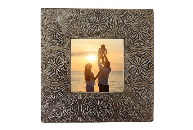 "Square Silver 4x4"" Picture Frame"