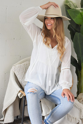 Rolling Stone Camille Shirt - Winter White