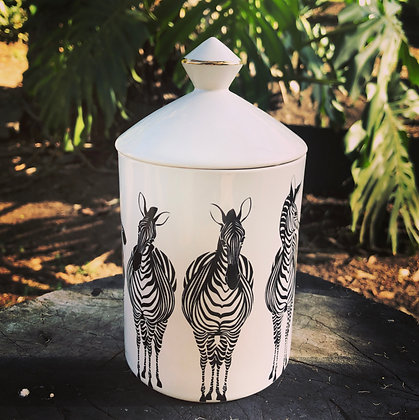 Zebra Canister Candle