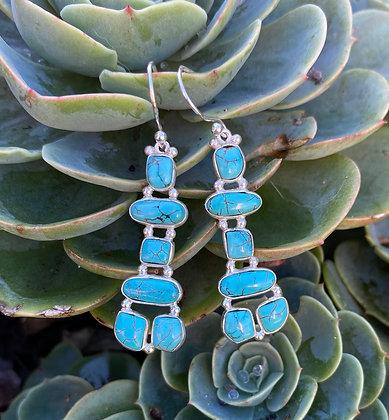 Turquoise Silver Earrings 3