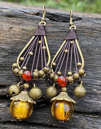 Copper Bell Earrings