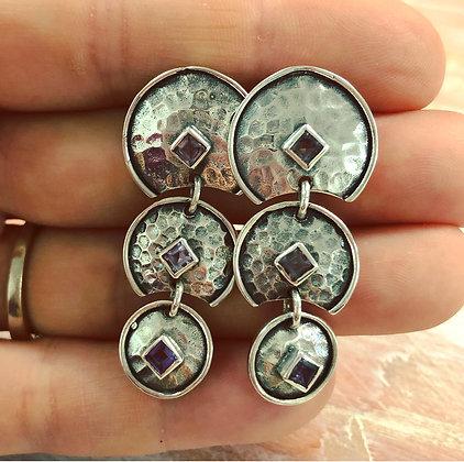 Amethyst sterling silver earrings