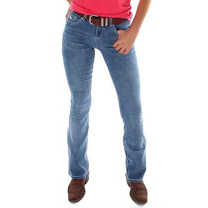 Katherine Mid Rise Bootleg Jeans - Light Blue