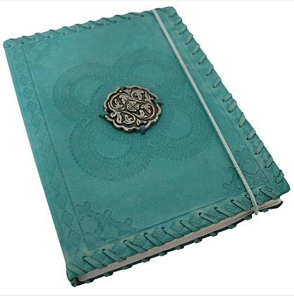 Aqua Leather Notebook