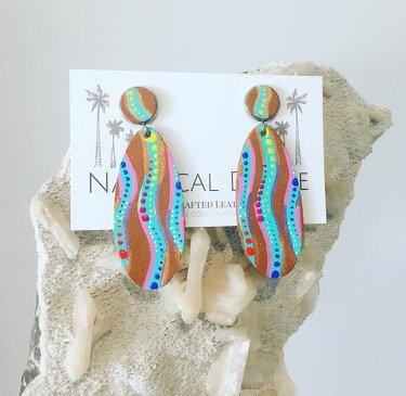 Kimberley Dreaming Leather Earrings - 1