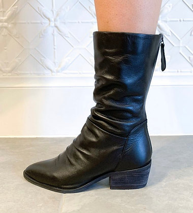 Debt Leather Boots - Black