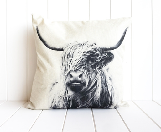 Bovine Monochrome Indoor Cushion