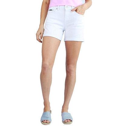 Elizabeth White Denim Shorts