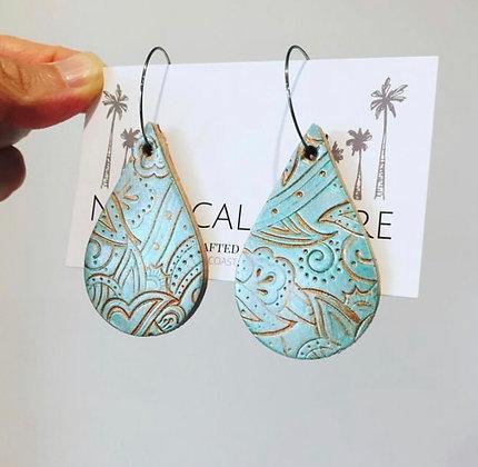 Ocean Leather Earrings