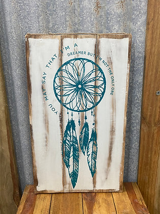 Wooden Boho Wall Hanging 3