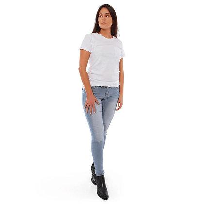 Sophie Mid Rise Skinny Leg Jeans - Bleach Blue