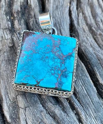 Turquoise square Pendant