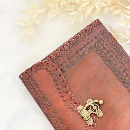 Dahlia Leather Journal