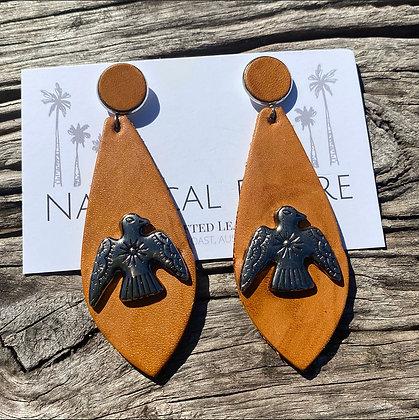 Pheonix Leather Earrings