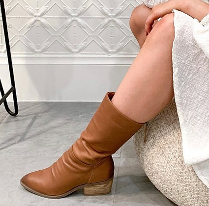 Debt Leather Boots - Tan